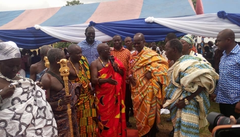 Nduom commissions water project at Akyem Etwereso